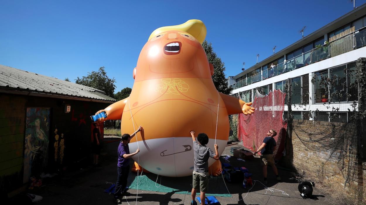 Un bébé Trump géant survolera Londres pendant la visite du président américain