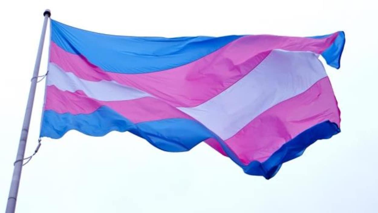 Le drapeau transgenre.