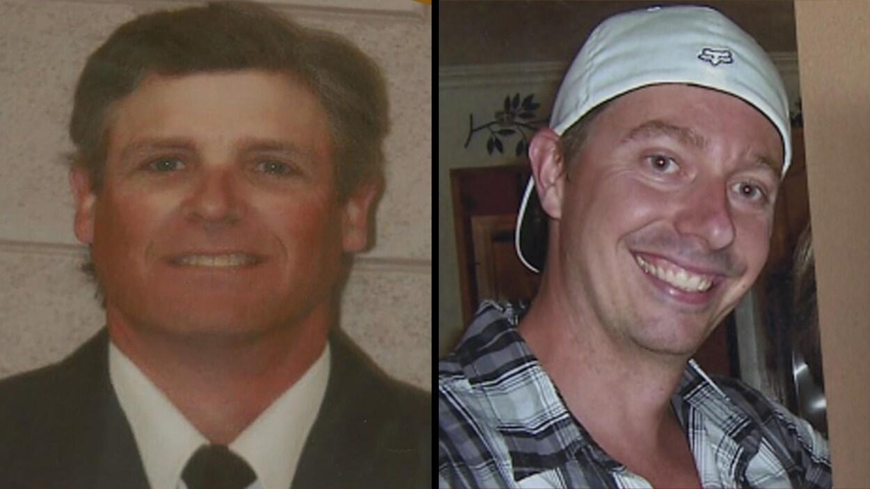 Drew Foster (à gauche) et David Williams (à droite) sont les deux victimes de l'explosion survenue le 15 janvier 2016 à l'usine de Nexen à Long Lake, près de Fort McMurray.