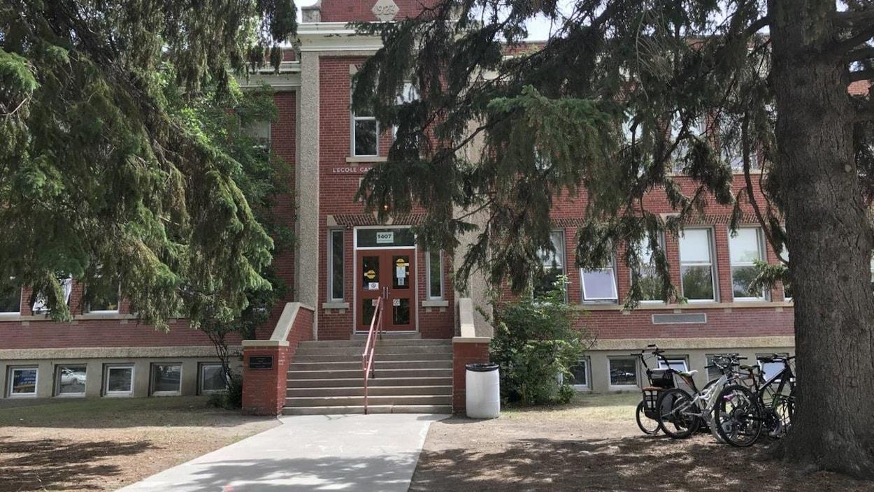 Le bâtiment de l'École canadienne-française de Saskatoon
