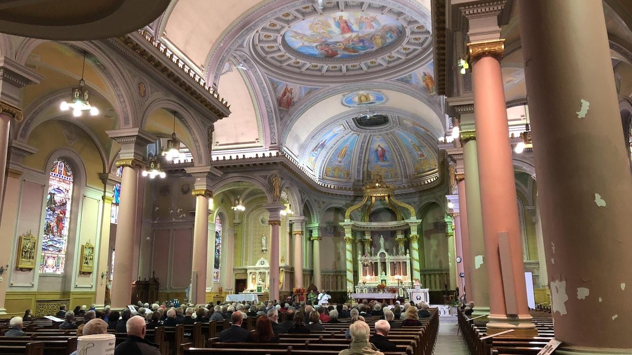 La dernière messe de l'église Saint-Pierre de Shawinigan a été célébrée le 29 septembre 2018.