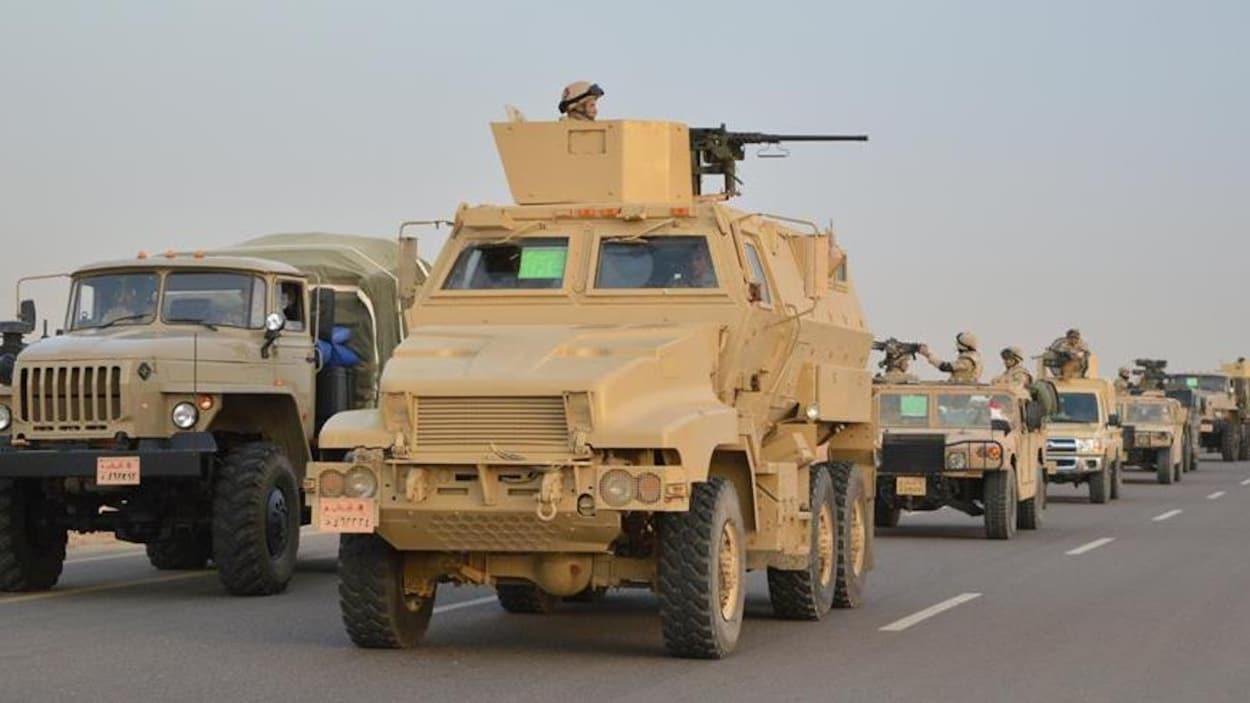 Les forces de sécurité mènent une vaste offensive dans le Sinaï depuis vendredi.