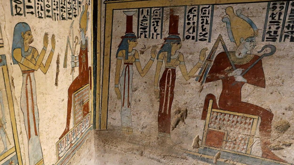 L'Égypte annonce la découverte d'un tombeau à Al-Diabat, dans le gouvernorat de Sohag.