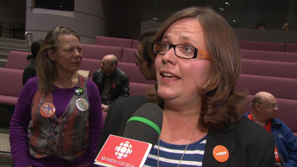 La candidate néo-démocrate dans Ottawa-Vanier Emilie Taman.