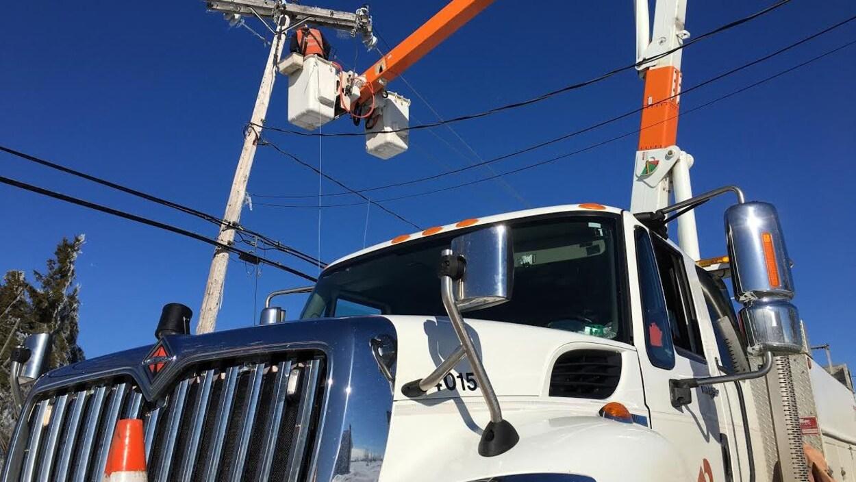 Un camion d'Énergie NB