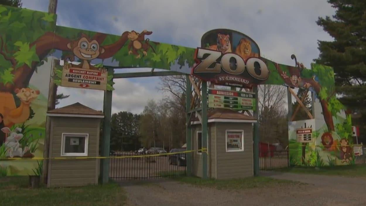 Guérite à l'entrée du Zoo de Saint-Édouard.