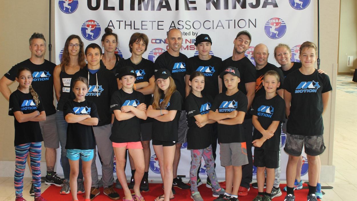 Photo du groupe d'athlètes.