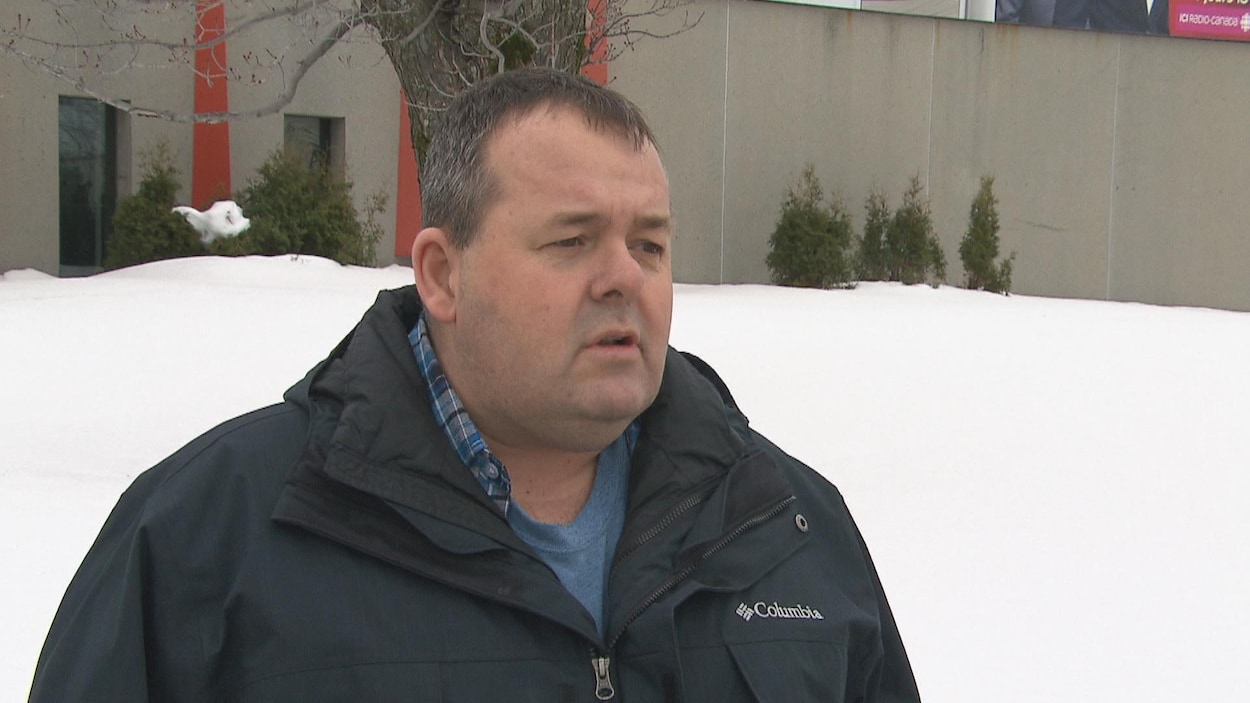 Le président du syndicat des cols bleus de Saguenay, Éric Blanchette.