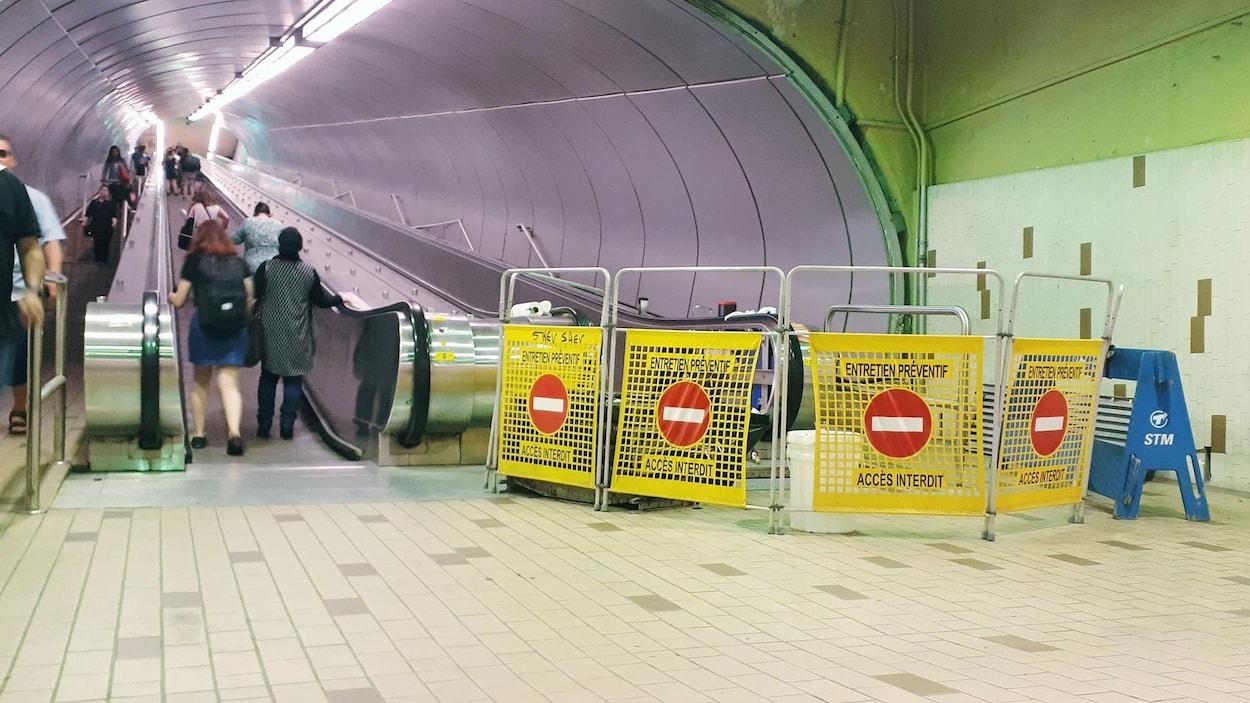 Le tapis est interdit d'accès pour cause d'« entretien préventif ».