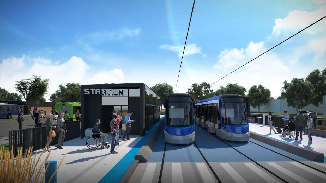 Esquisse du projet de réseau structurant de transport en commun de la Ville de Québec