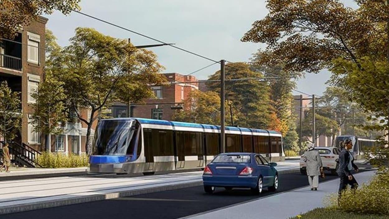 Esquisse du projet de tramway.