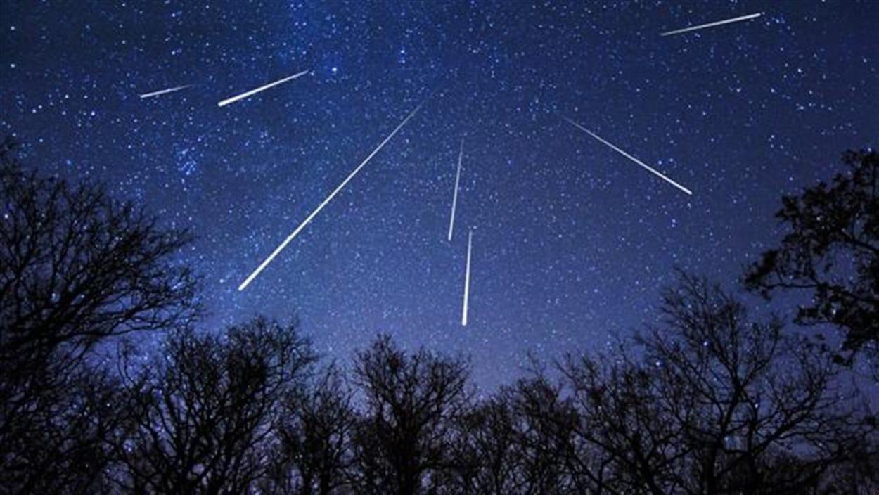 Exemple de la pluie de météores des Perséides