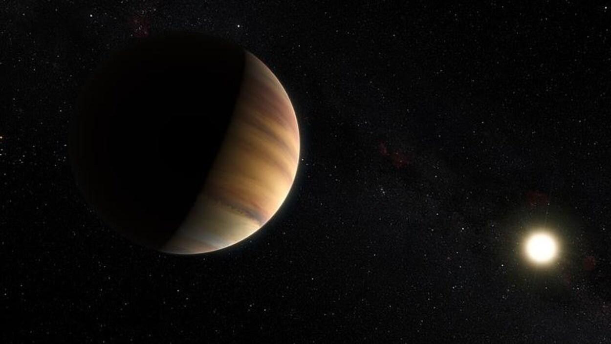 Impression artistique de l'exoplanète 51 Pegasi b.