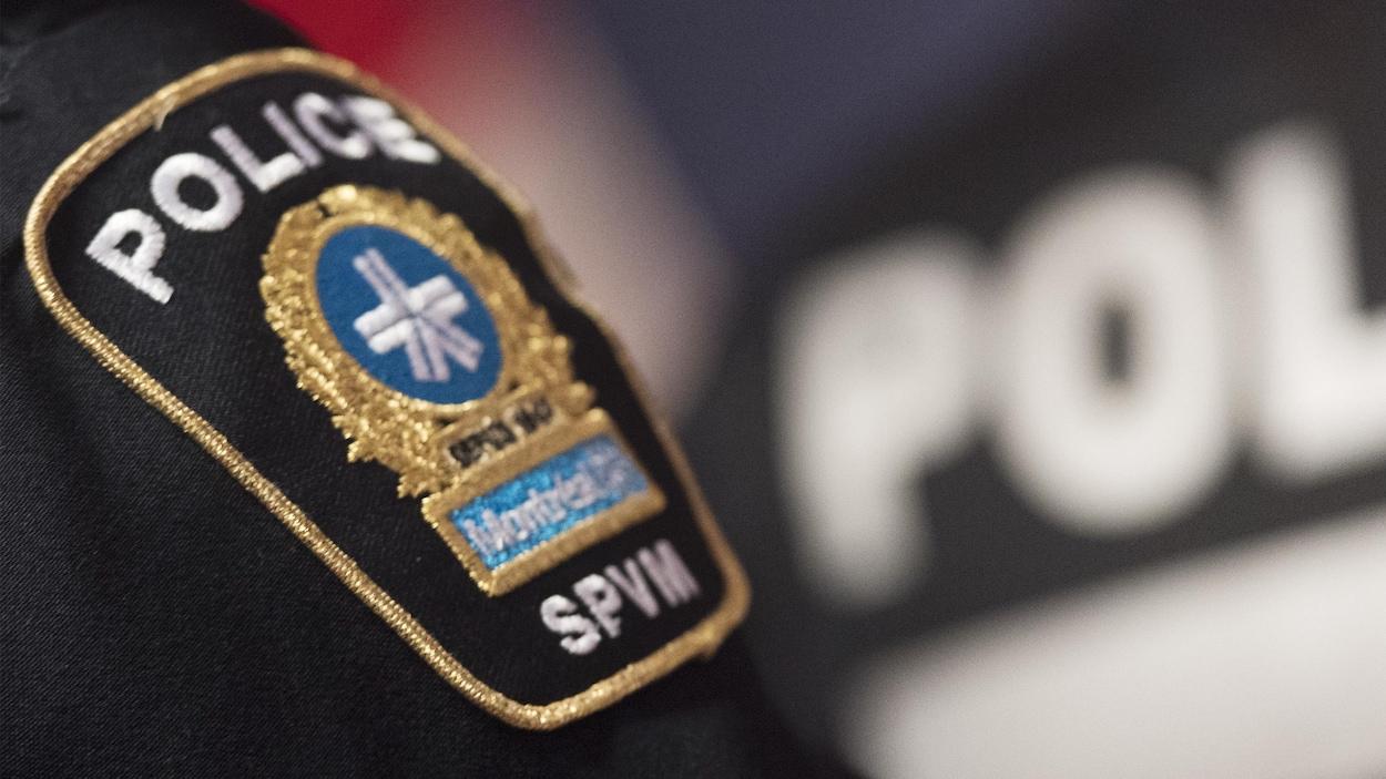 Un écusson de la police de Montréal.
