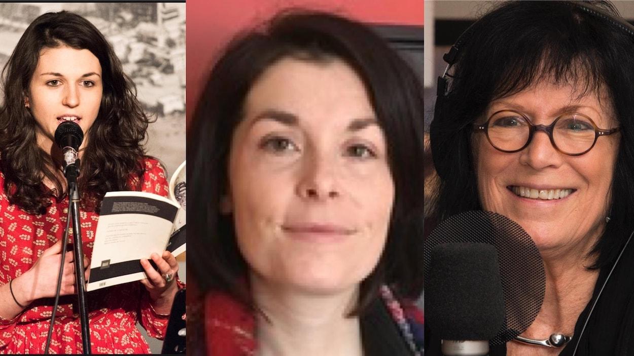 Les poètes Laurence Veilleux, Marie-Josée Charest, Denise Desautels, France Cayouette, Louise Dupré et Sara Dignard