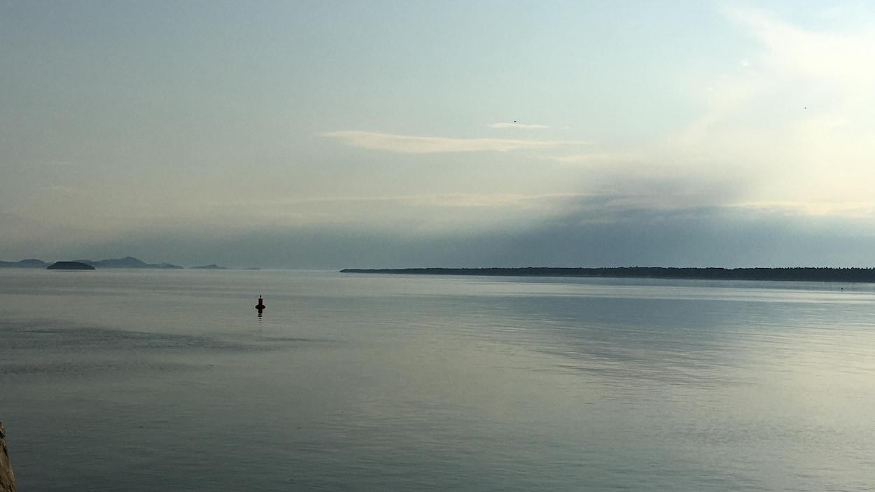 Un fleuve d'huile au quai de Rimouski