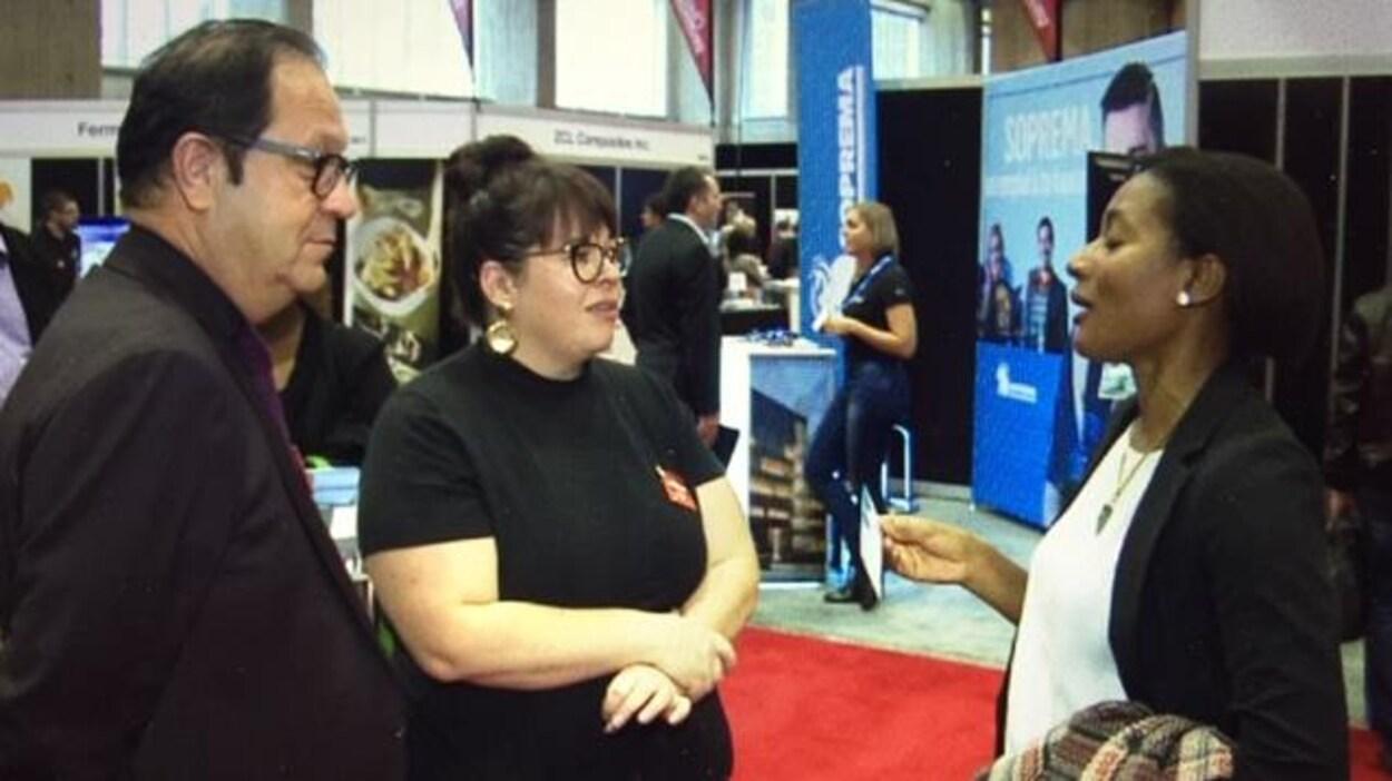 Une vingtaine d'entreprises de Drummondville étaient de la Foire nationale de l'emploi, à Montréal, pour recruter de la main-d'oeuvre.