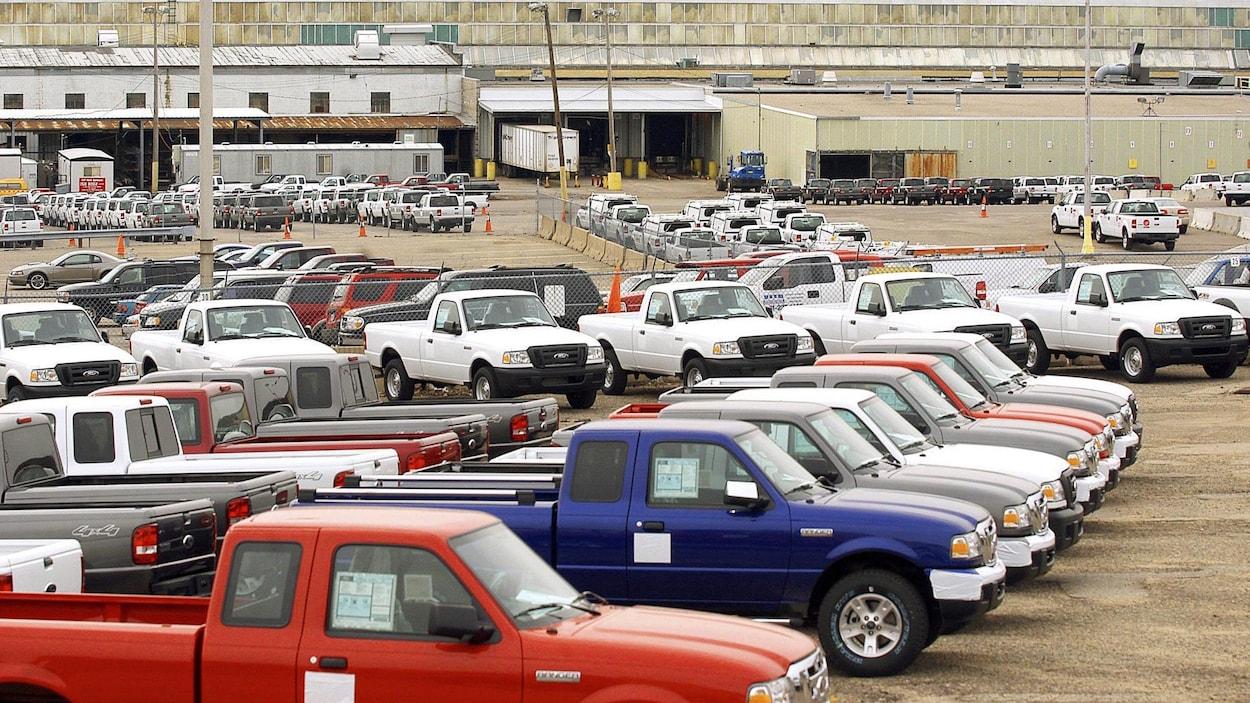 Cette photo prise en 2006 montre des Ford Ranger sortis de l'usine de St. Paul, au Minnesota.