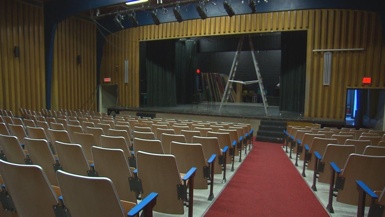 L'auditorium de la polyvalente des Rivières à Forestville