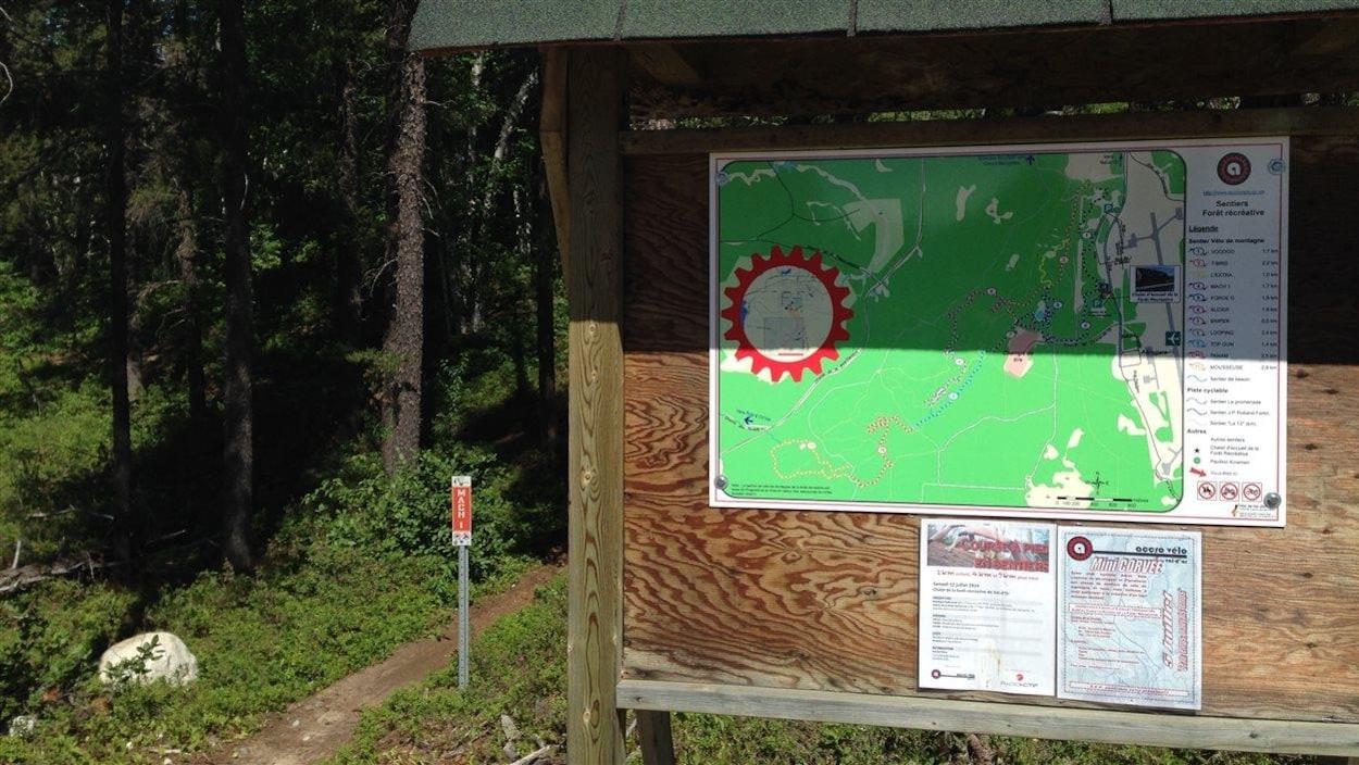 Plan des pistes de la forêt récréative