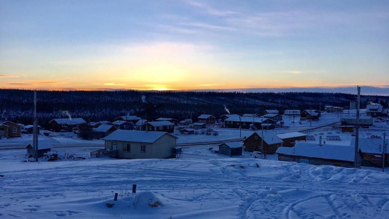 La communauté de Fort Good Hope en hiver.