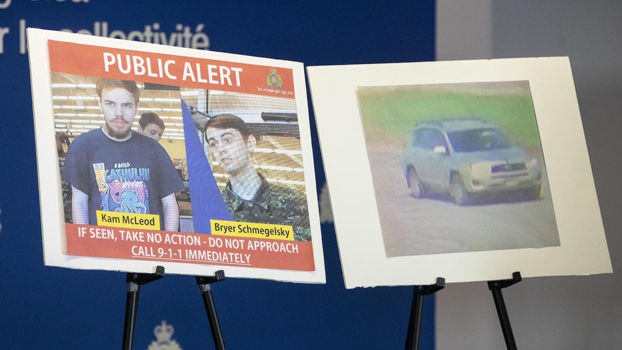 Photos des suspects et de leur véhicule.