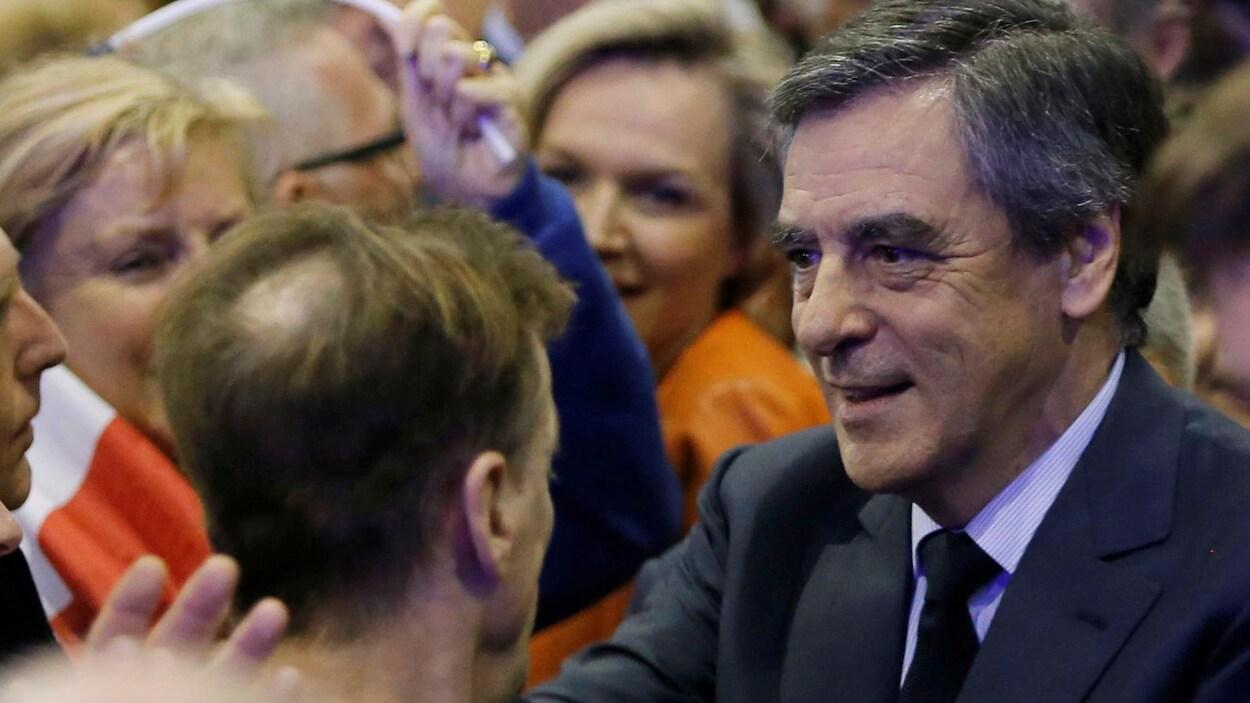 Le candidat à la présidentielle française François Fillon