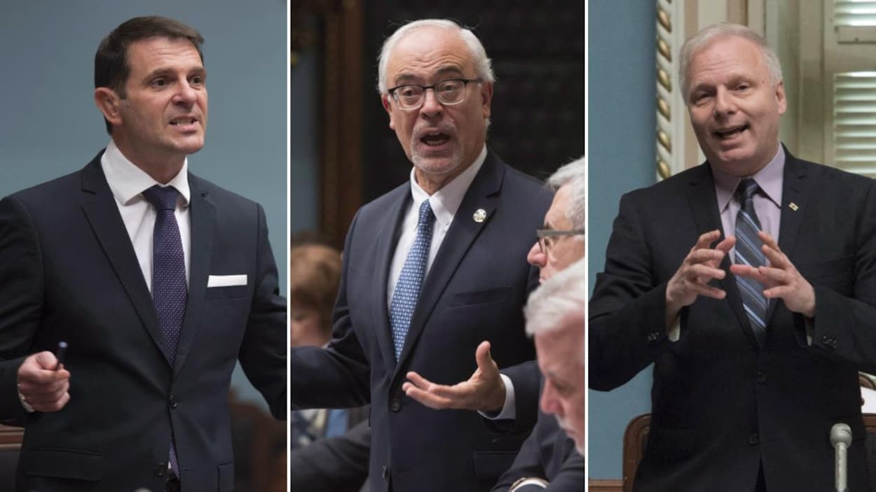 Montage des trois hommes à l'Assemblée nationale.