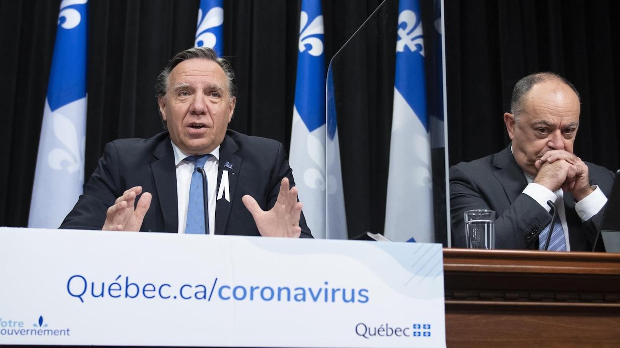 François Legault et Christian Dubé en point de presse