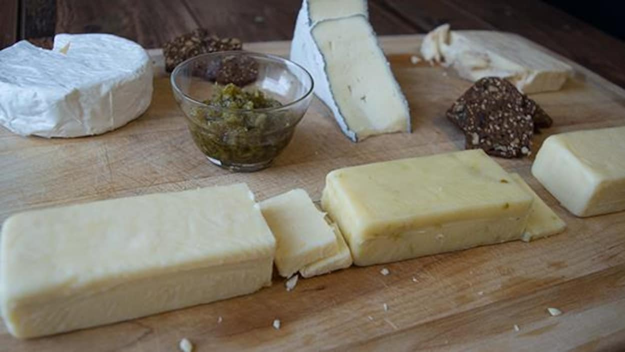 Un plateau de fromages de la fromagerie Fromage au Village, de Lorrainville