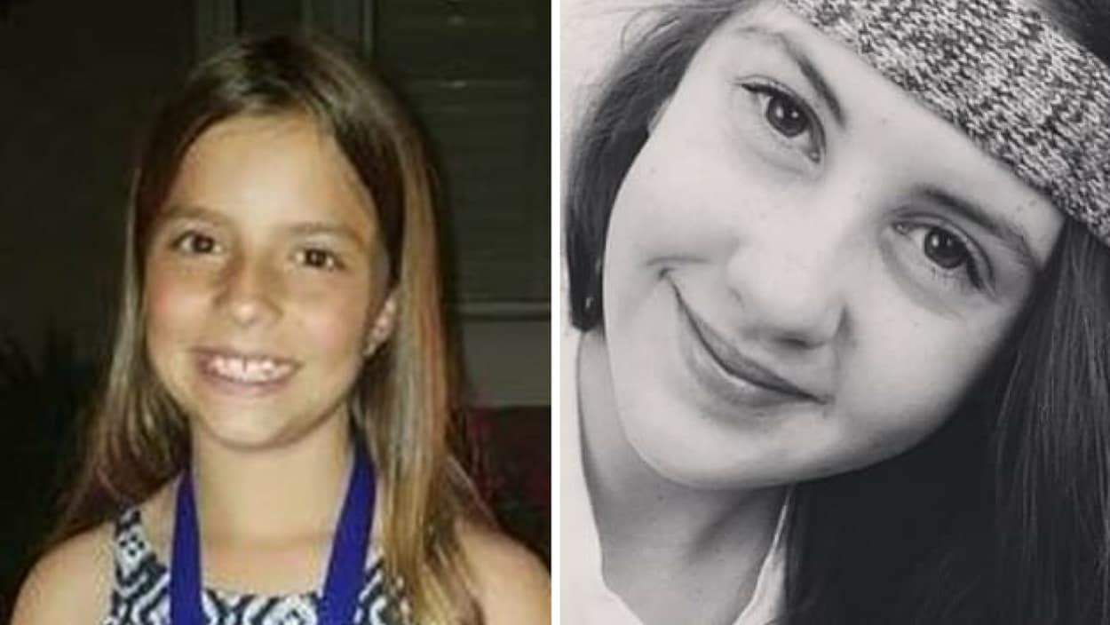 Les portraits des deux jeunes filles.
