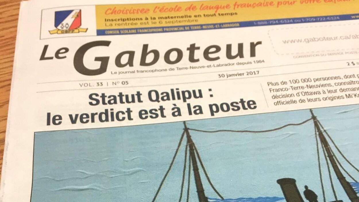 Le journal francophone de Terre-Neuve-et-Labrador, Le Gaboteur, avait suspendu deux de ses parutions afin de mettre en oeuvre un plan d'action pour répondre aux critiques.