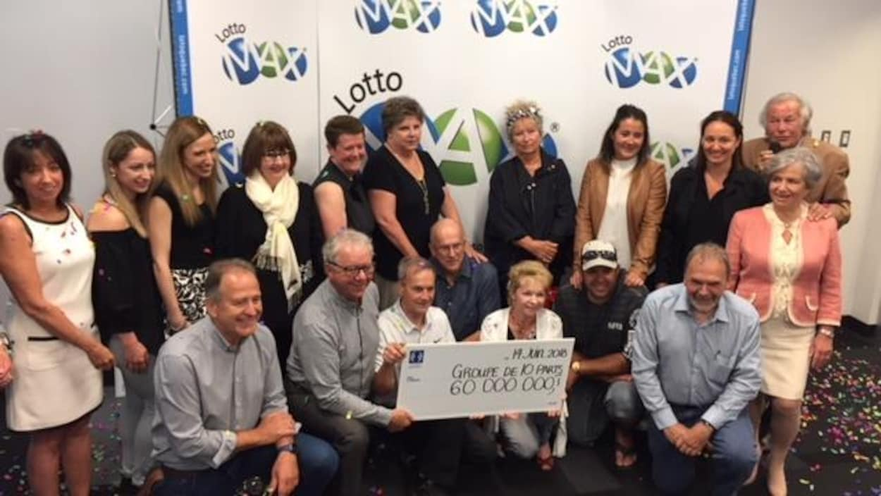 Les gagnants du 60M$ du Lotto Max rencontrent les médias à Drummondville