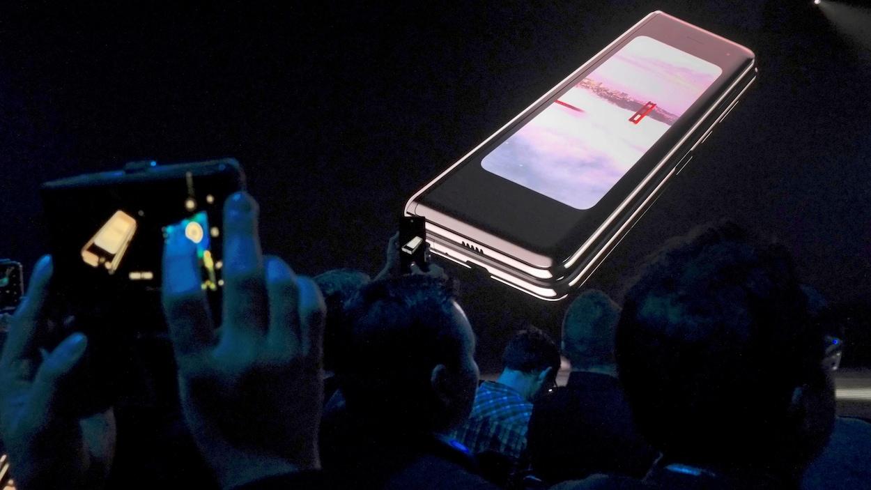 Le lancement du téléphone Galaxy Fold de Samsung.