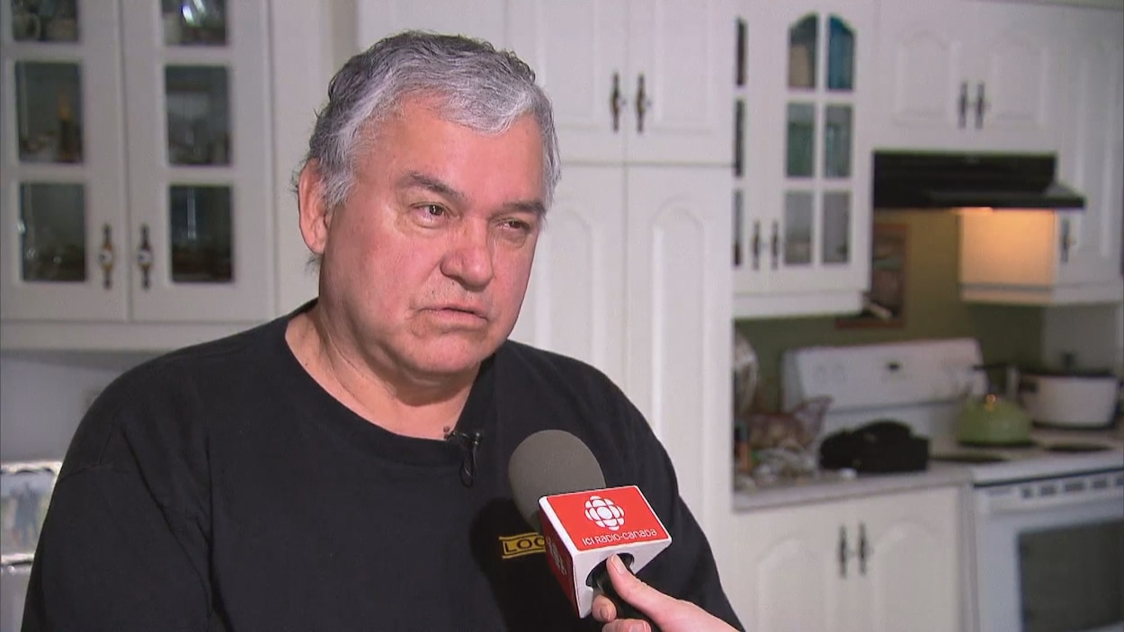 Gary Metallic lors d'une entrevue avec Radio-Canada, le 19 février 2020.
