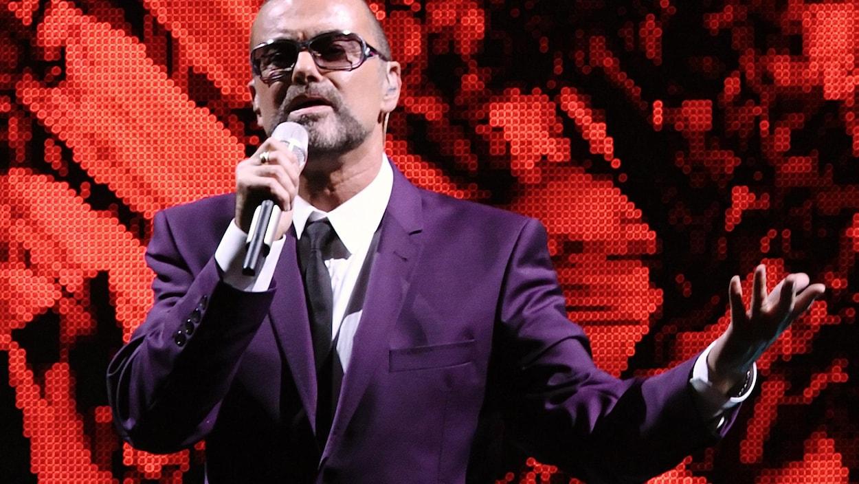 George Michael lors d'un concert en 2012 en Autriche.