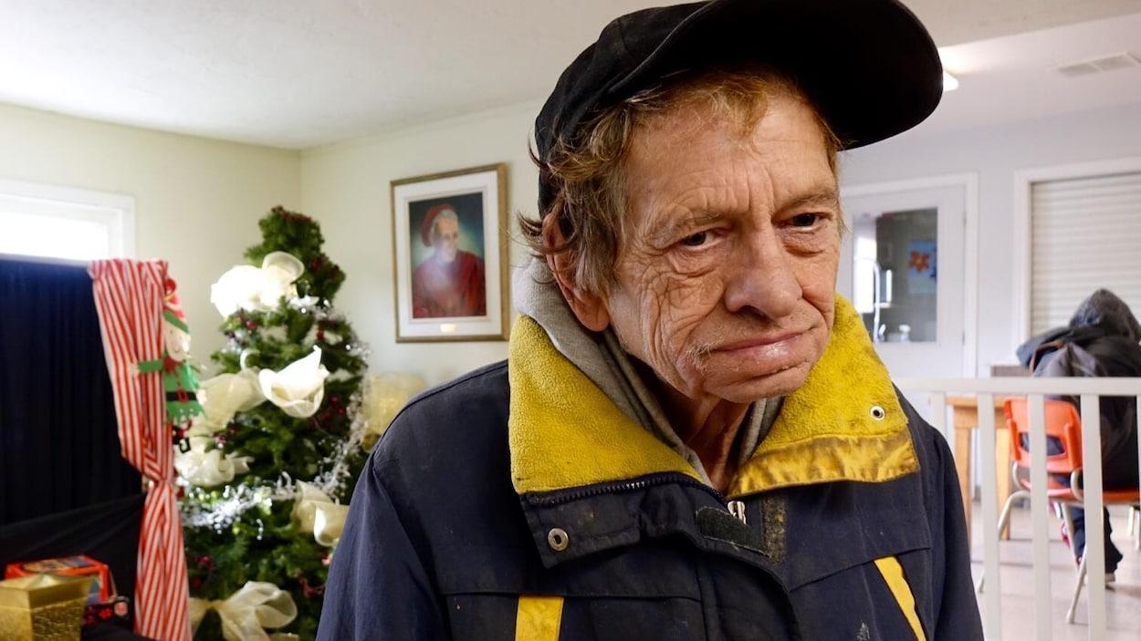 George Randall, 70 ans, devra passer Noël à la Maison Nazareth, un refuge pour sans-abris de Moncton