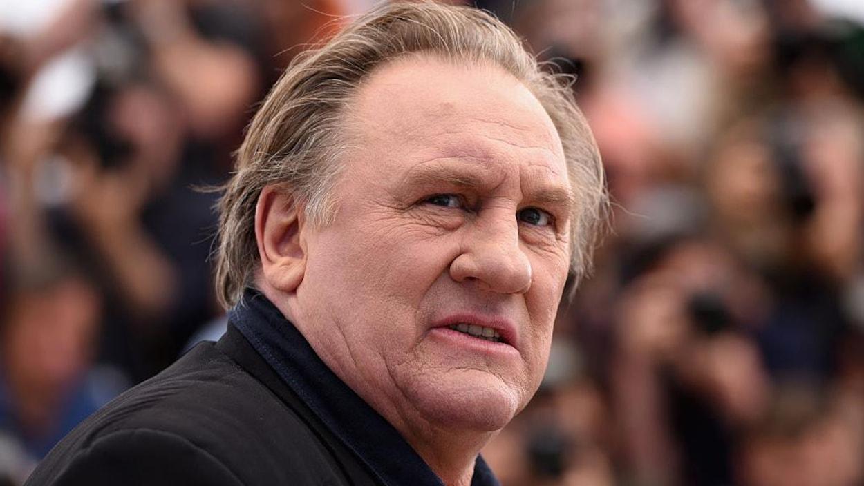 Portrait de Gérard Depardieu.