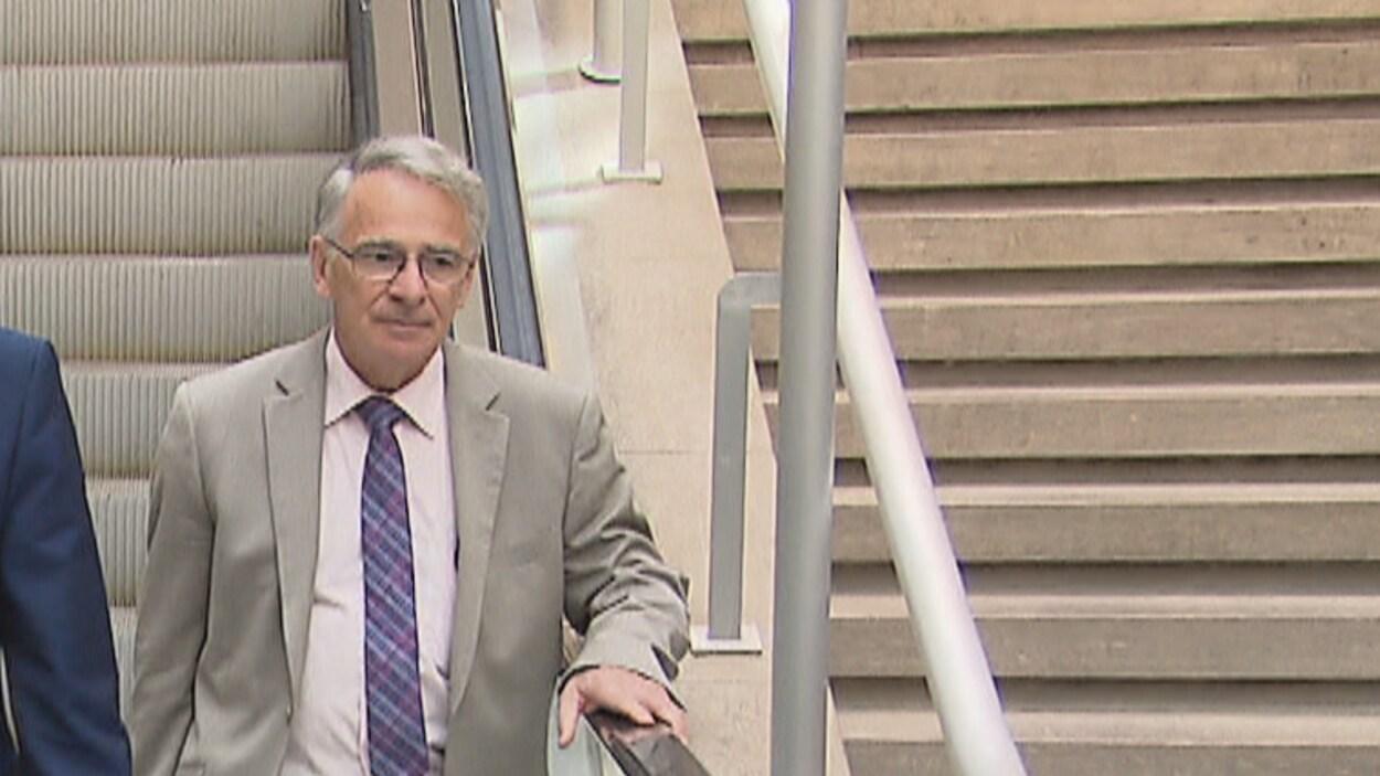 Gilles Grenier au palais de justice de Québec