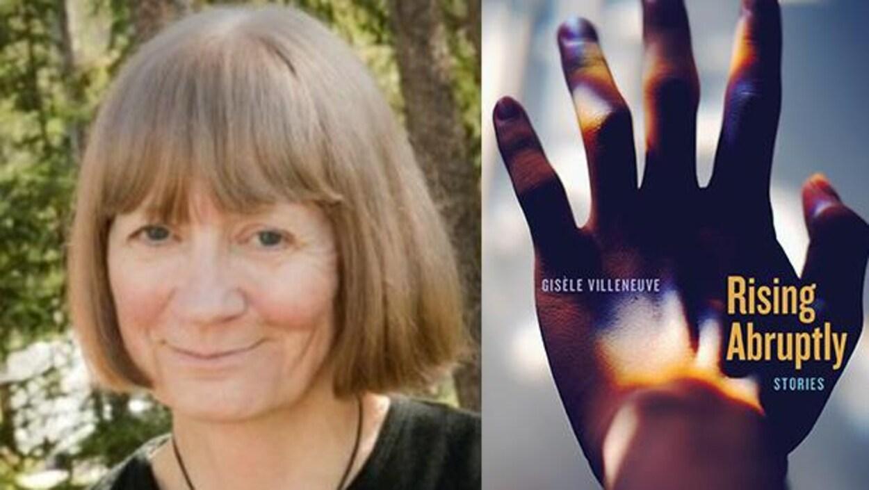 Gisèle Villeneuve et la couverture du livre