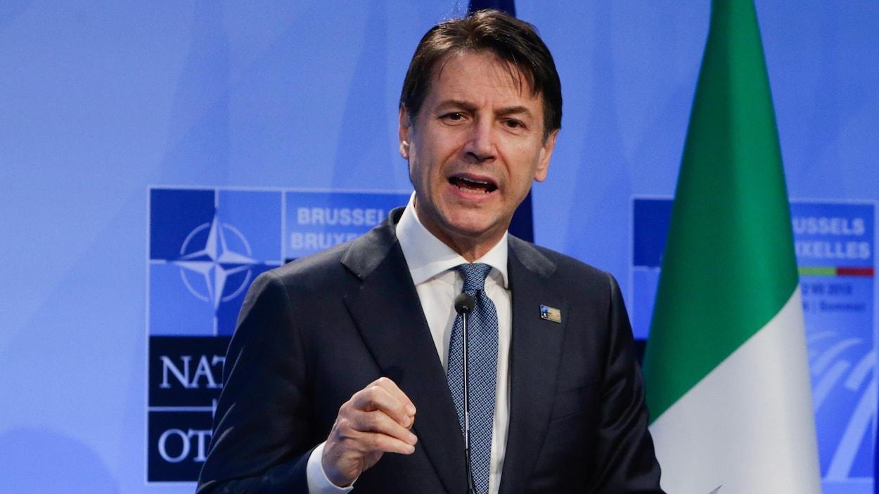 Le président du Conseil italien, Giuseppe Conte.