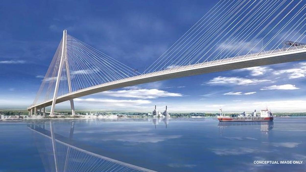 Dessin conceptualisé d'un pont.