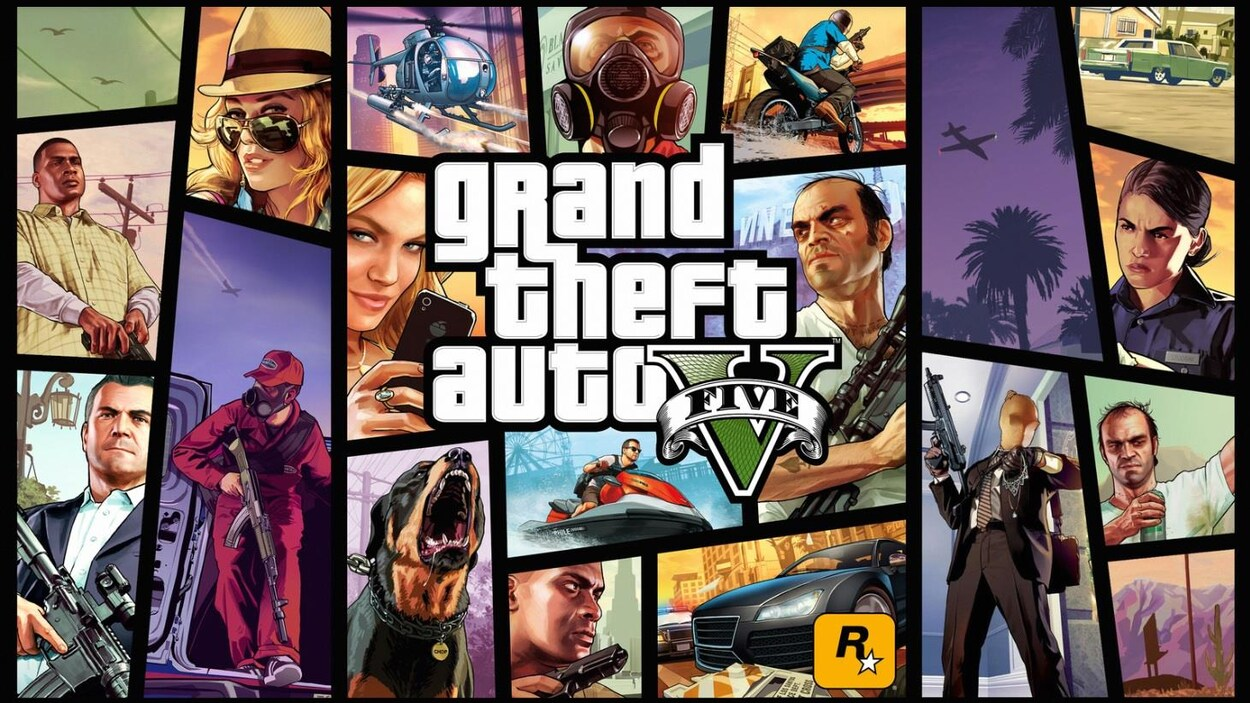 Art jeu Grand Theft Auto V.