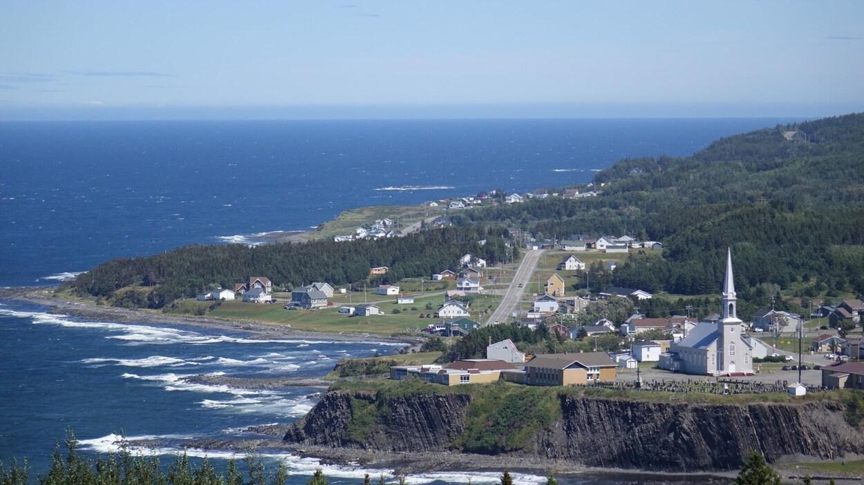 Village de Grande-Vallée en Gaspésie