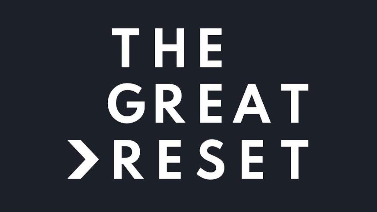 """THE GREAT RESET"", écrit en lettres majuscules."