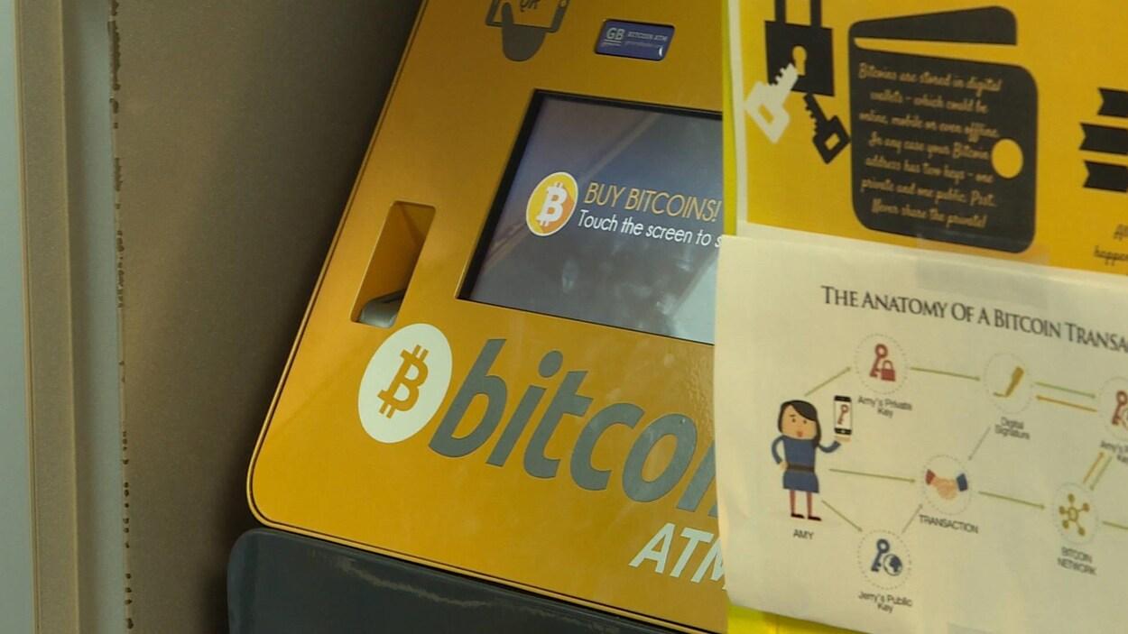 Le guichet de bitcoins installé au Tobin's Convenience