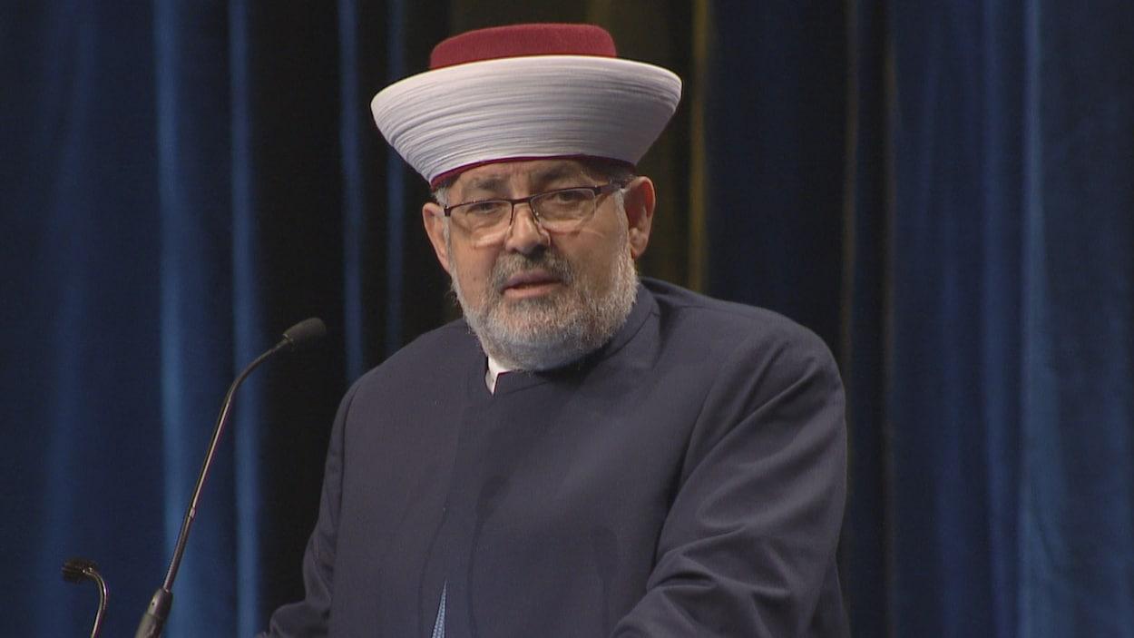 L'imam Hassan Guillet, porte-parole au Conseil des imams du Québec