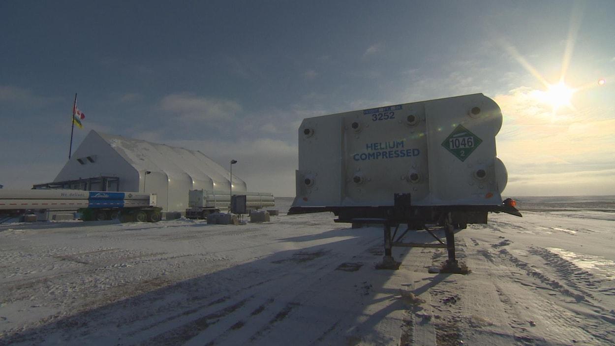 L'usine d'exploitaion de l'hélium Weil, près de Mankota en Saskatchewan