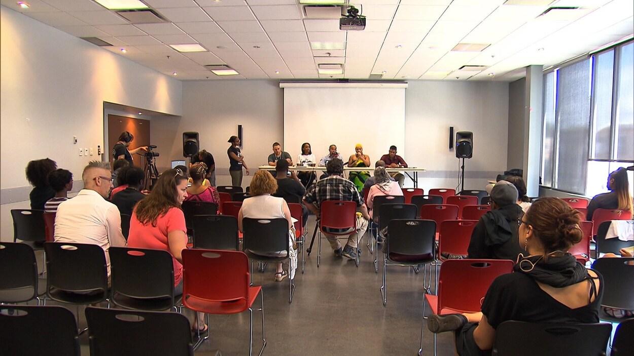 L'atelier du festival Hoodstock consacré au phénomène des demandeurs d'asile à Montréal-Nord