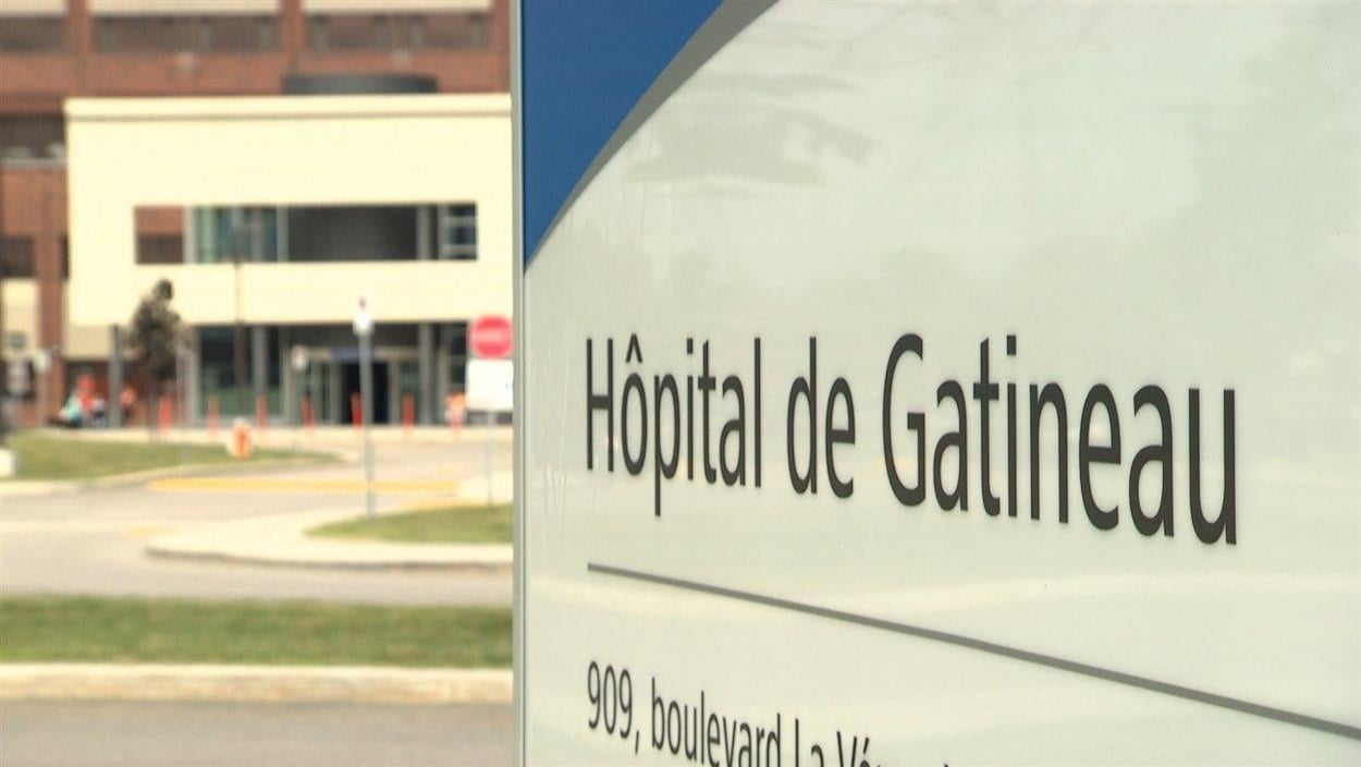 Une pancarte indiquant l'Hôpital de Gatineau. (Archives)